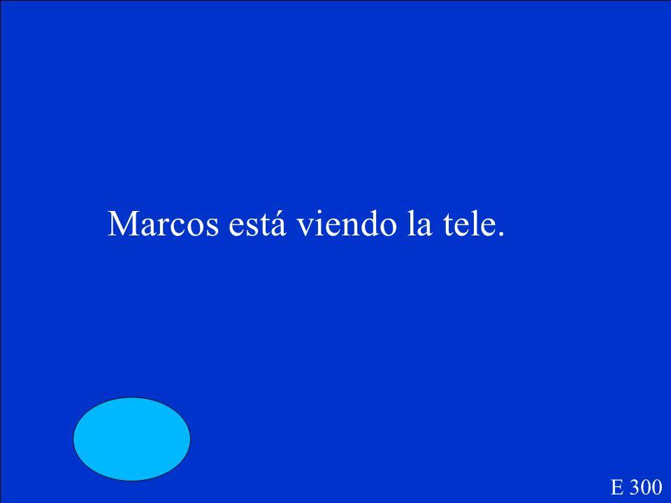Marcos ____(ver) la tele. E 300