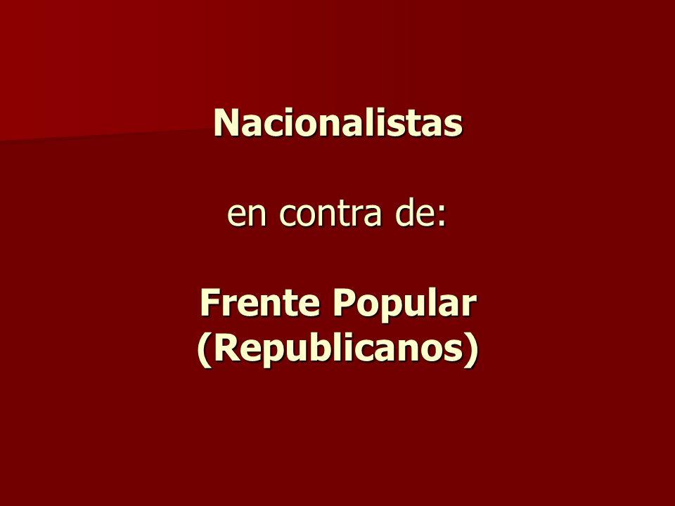 Nacionalistas en contra de: Frente Popular (Republicanos)