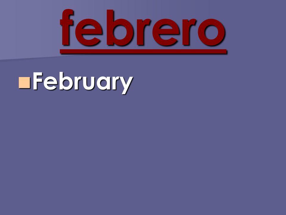 febrero February February