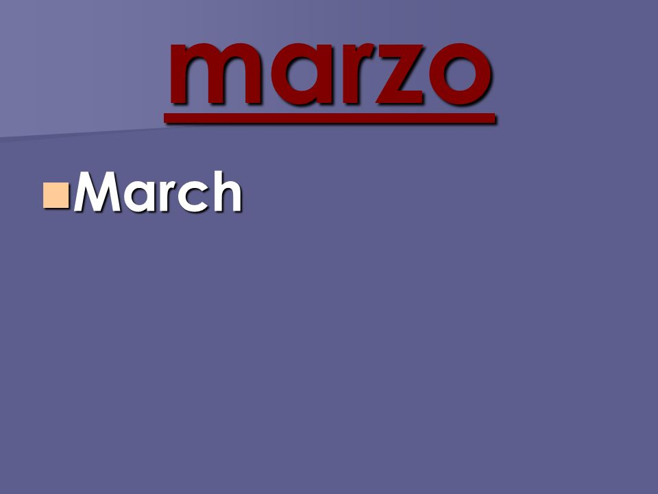 marzo March March