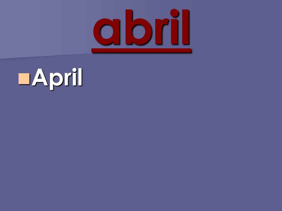 abril April April