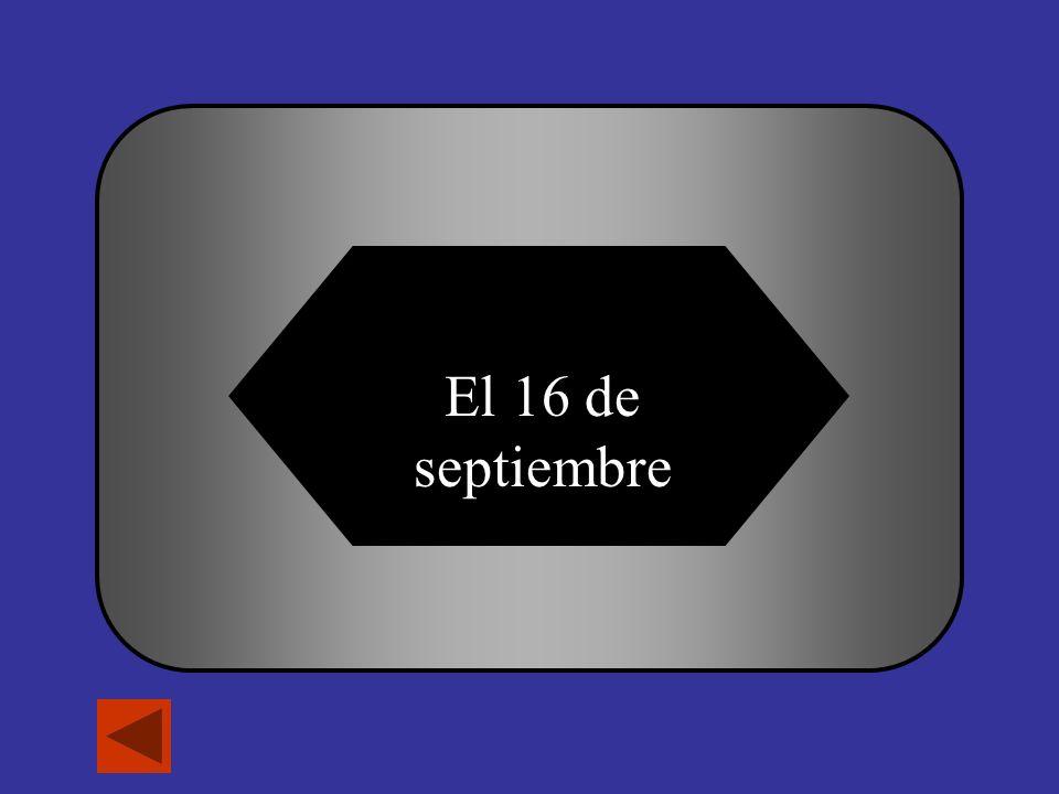 ¿Cuándo es el día de independencia de México.