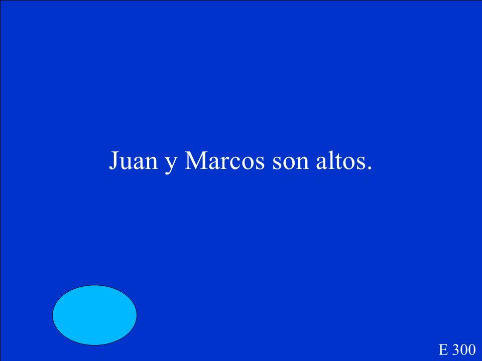 Juan y Marcos son_________(tall). E 300
