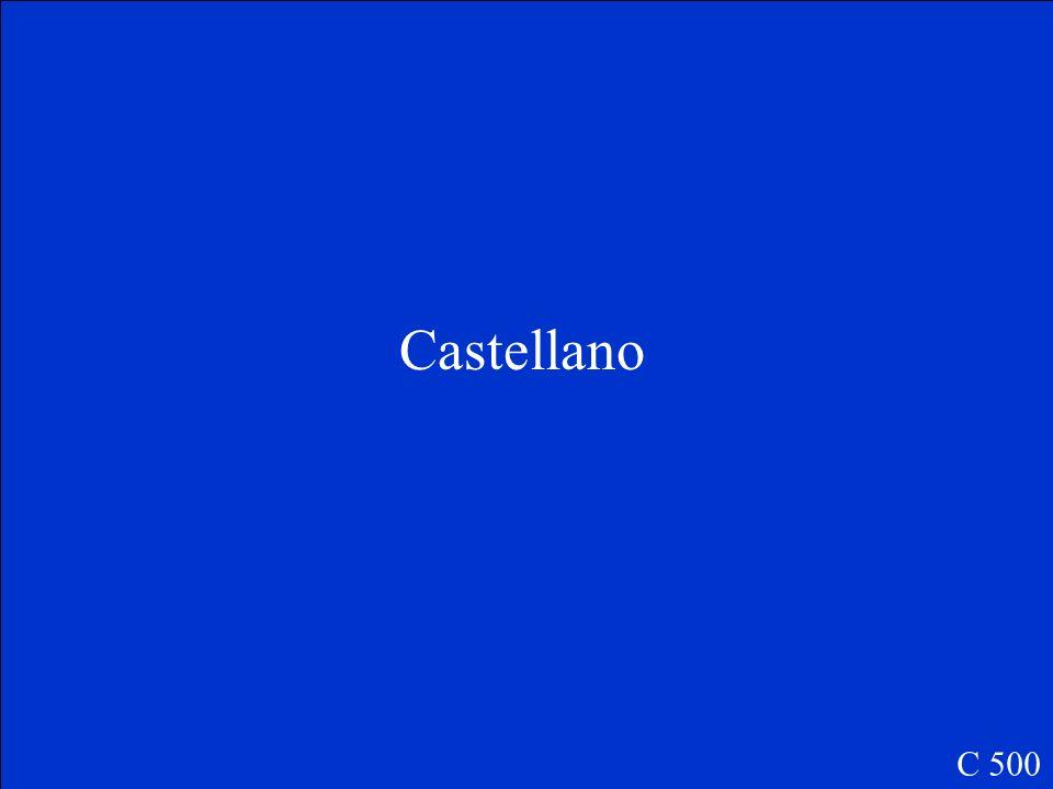 ¿Cómo se llama español en España C 500