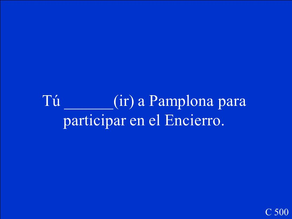 Ellos me _____(dar) una bandera de España como un recuerdo. C 400