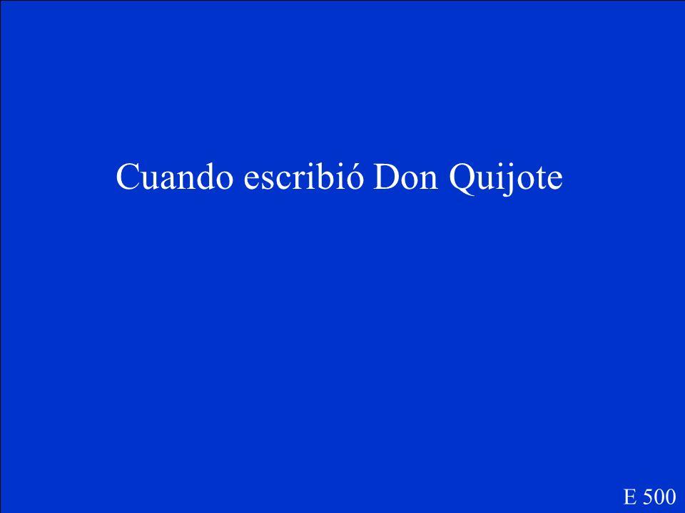 Cervantes E 400