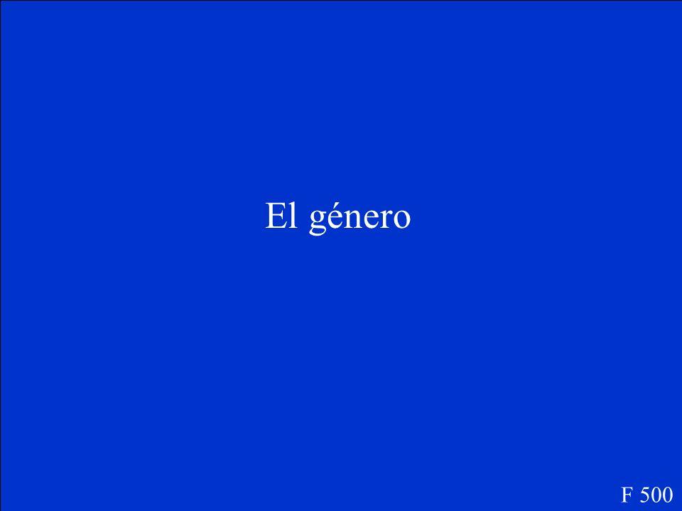 Genre F 500