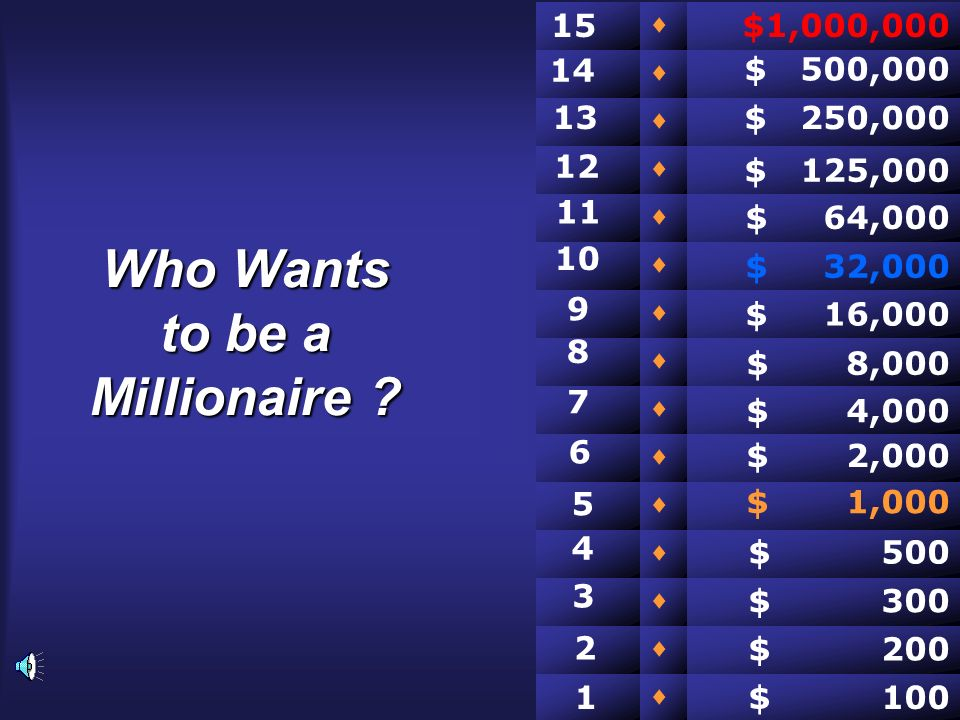 Who Wants to be a Millionaire .