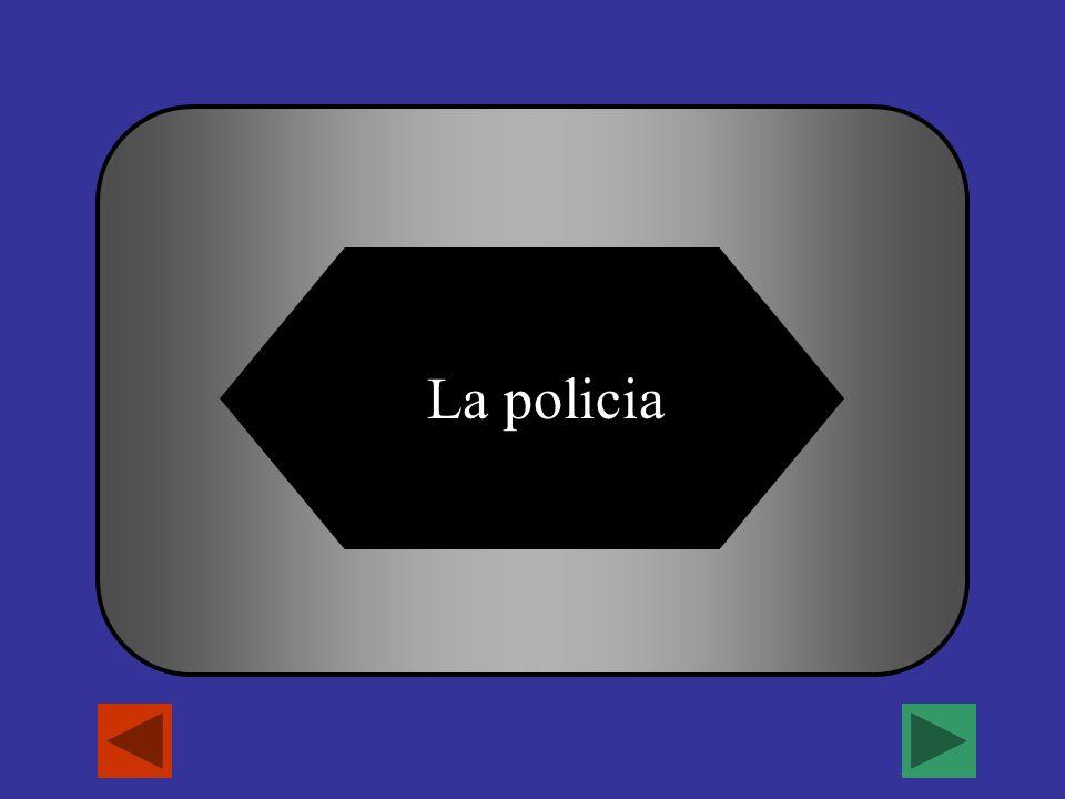 A B C D El jefe El vetenario La policiaEl profesor ¿Quien arresta criminales