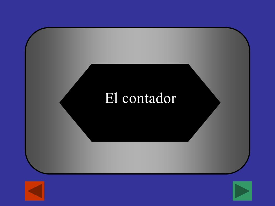 A B C D El escritor El electrista El cocineroEl contador ¿Quien trabaja con numeros