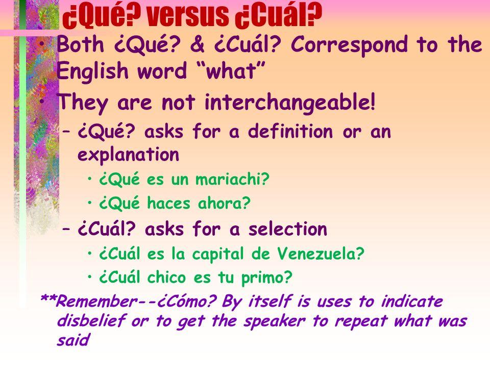 When to use cuánto/a versus cuántos/as When cuánto modifies a noun, it must agree in gender and number with that noun 4 forms: cuánto/cuánta & cuántos