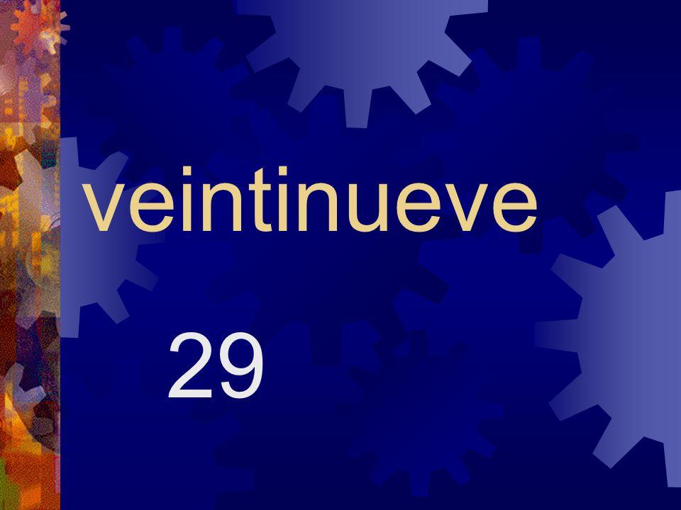 veintiocho 28