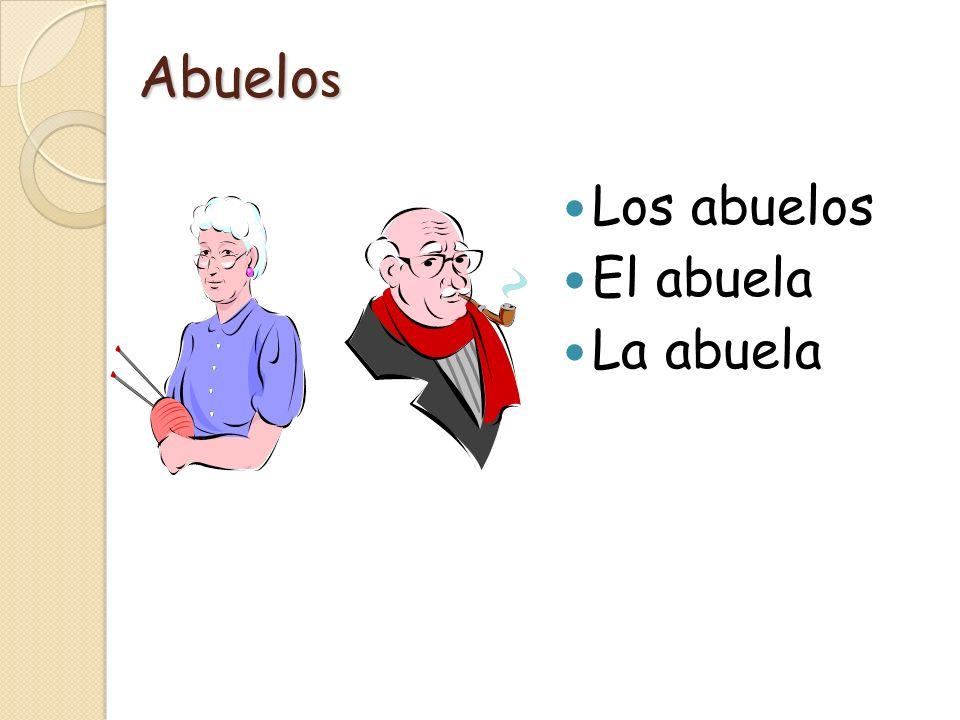 Other family members El tío (the uncle) La tía (the aunt) El primo (the boy cousin) La prima (the girl cousin) El sobrino (the nephew) La sobrina (the niece)