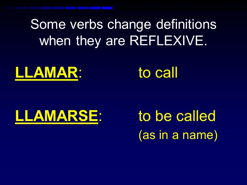 Some verbs change definitions when they are REFLEXIVE. IR: to go IRSE: to leave (usually a command)