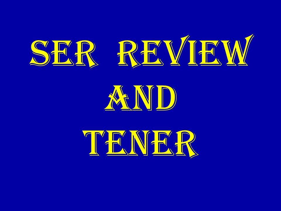 ser REVIEW AND TENER