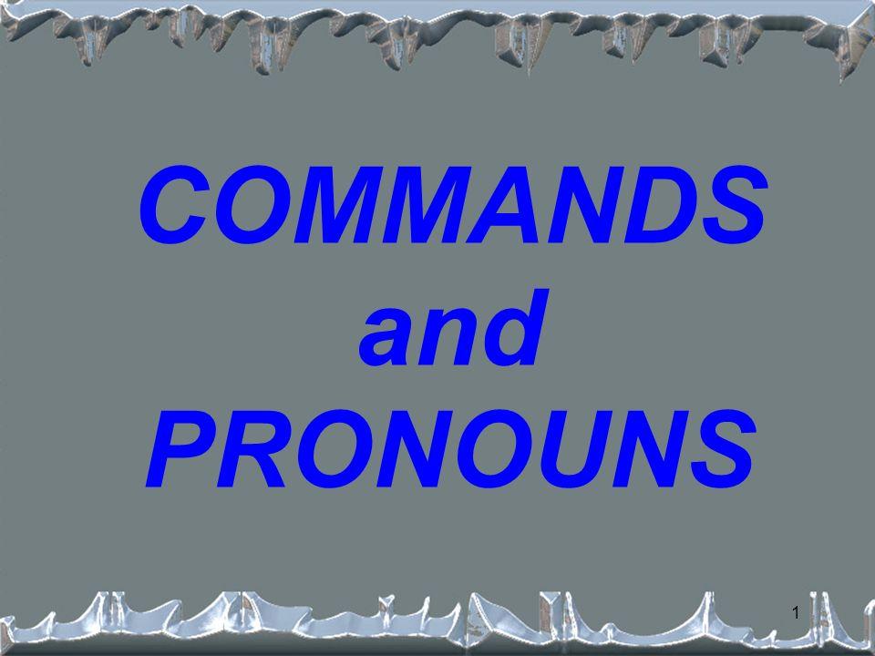 1 COMMANDS and PRONOUNS
