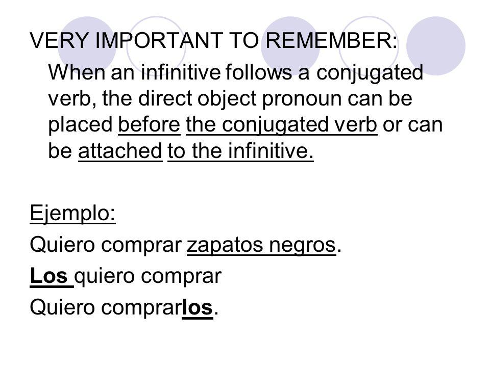 Más práctica: Write the direct object pronoun for each sentence: 1.Me gusta esa blusa.
