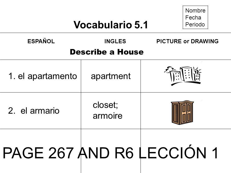 Vocabulario 5.2 Nombre Fecha Periodo Plan a Party 1.