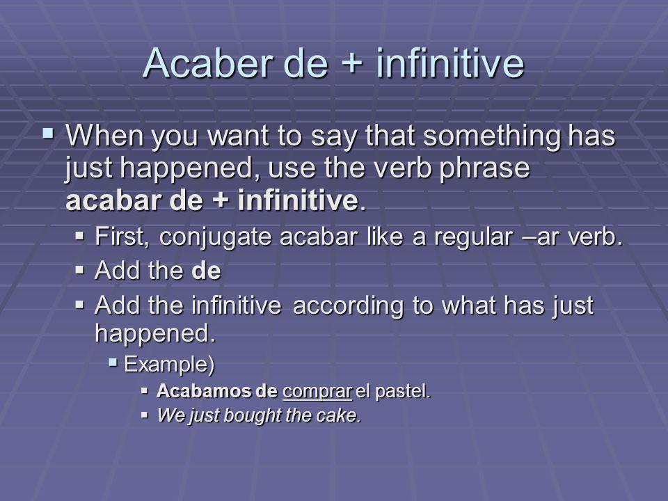 Conjugating Acabar Can you conjugate acabar.Can you conjugate acabar.
