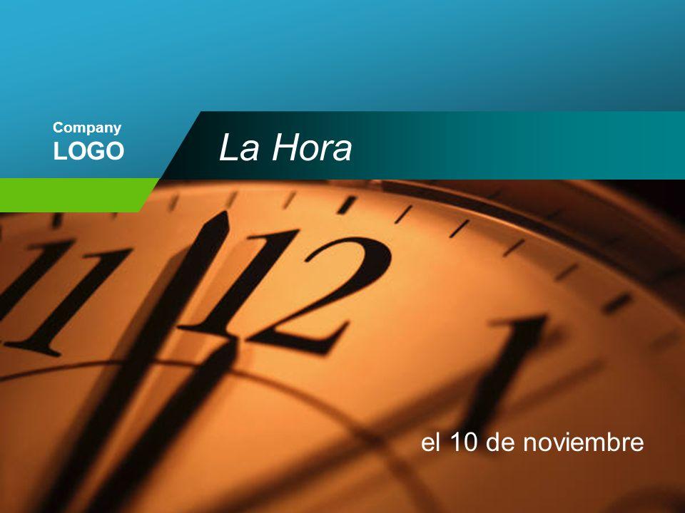 Company LOGO La Hora el 10 de noviembre