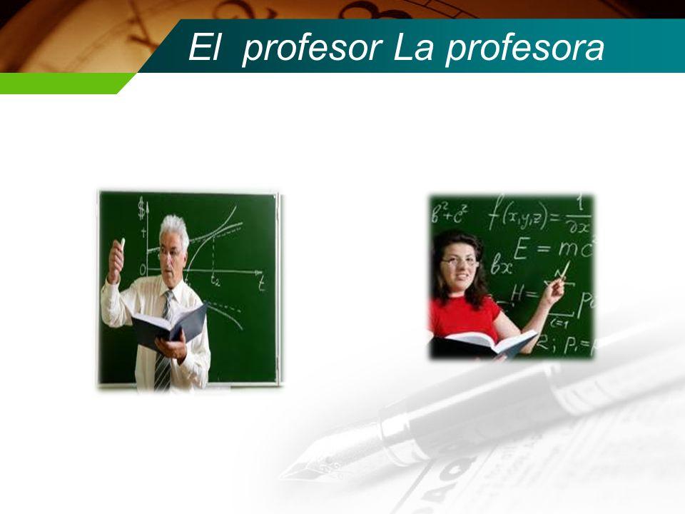 El profesor La profesora