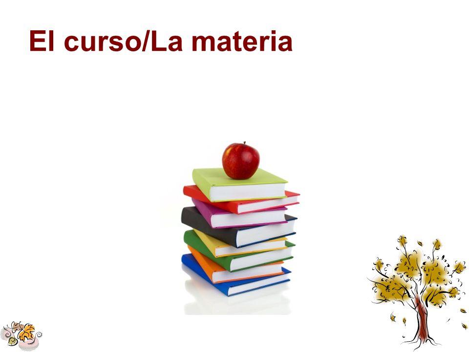 El curso/La materia