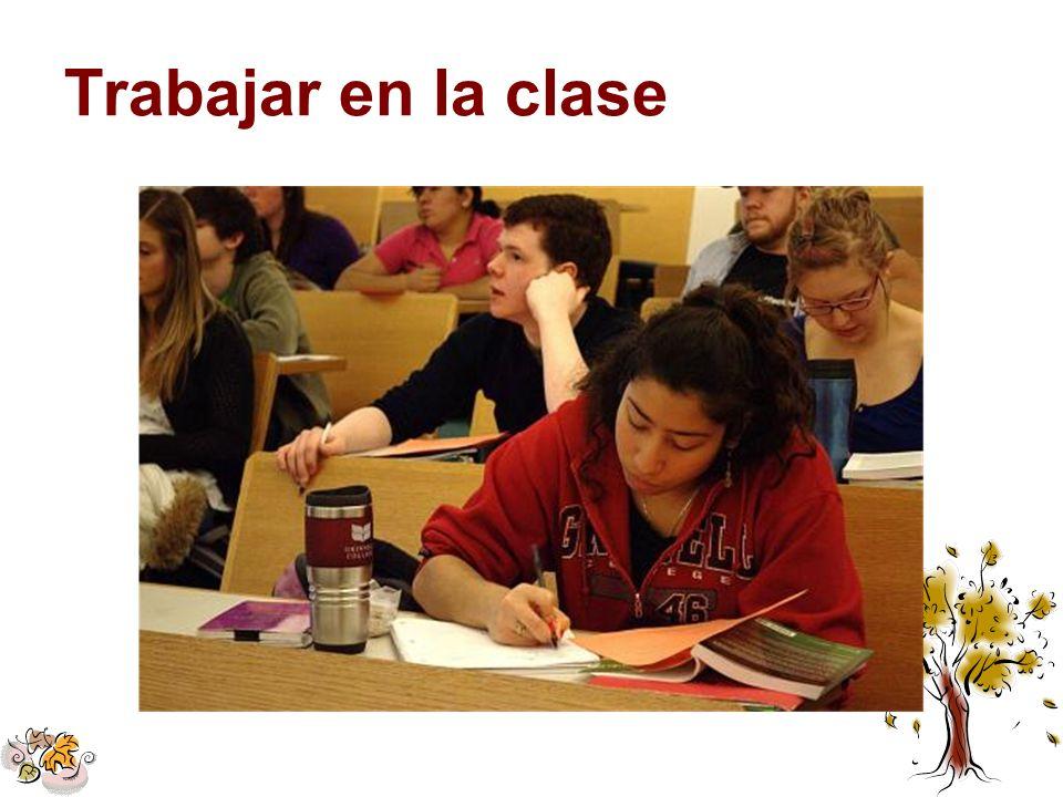 Trabajar en la clase