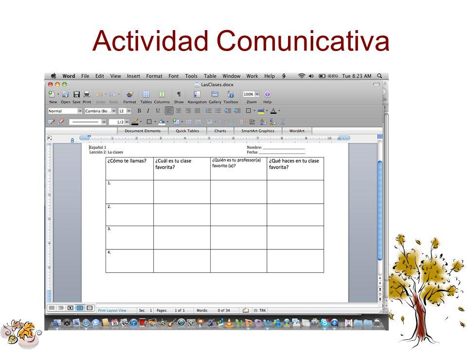 Actividad Comunicativa