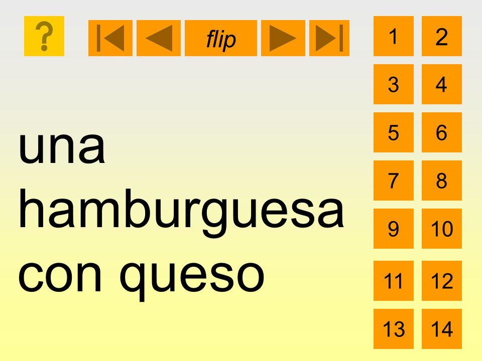 una hamburguesa con queso 1 3 2 4 5 7 6 8 910 1112 1314 flip