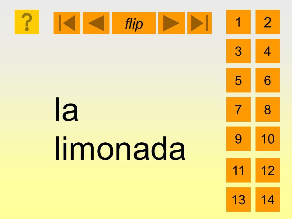 la limonada 1 3 2 4 5 7 6 8 910 1112 1314 flip