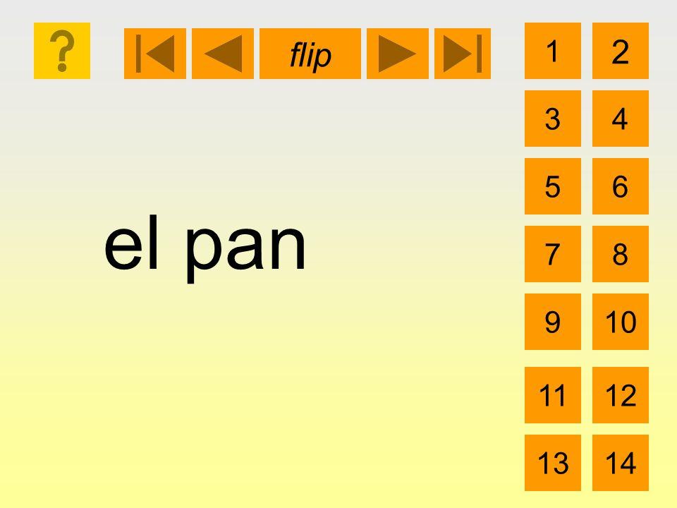 el pan 1 3 2 4 5 7 6 8 910 1112 1314 flip