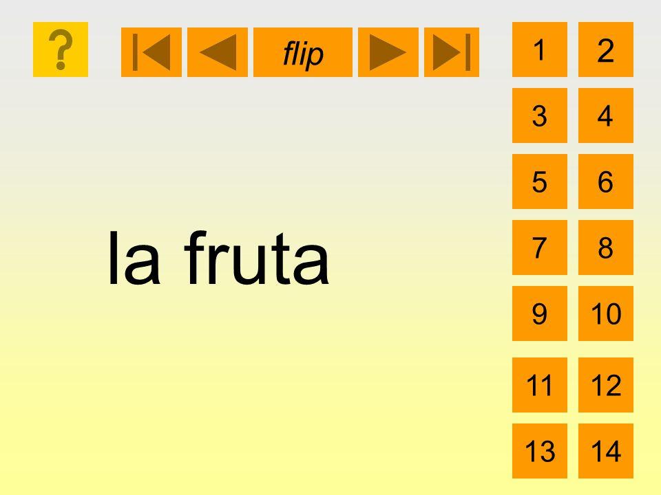 la fruta 1 3 2 4 5 7 6 8 910 1112 1314 flip