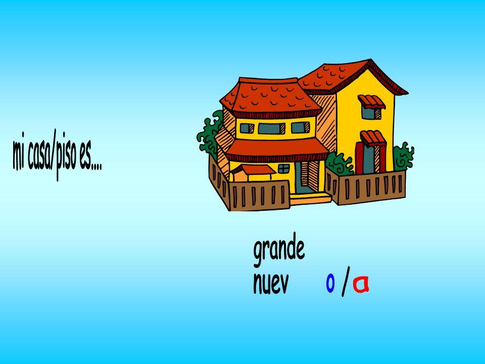 1) un g_raj_ garage 2) un b_lcón balcony 3) un sótan_ cellar 4) un ac_nsor lift 5) un ja_dín garden 6) un _ticoattic 7) una p_scin_ swimming pool Mi c_sa es de 2/3/4 pl_ntas y tien_ ………