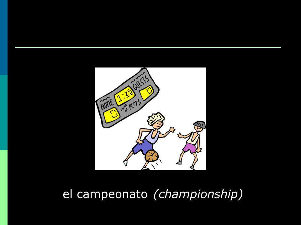 el campeonato (championship)