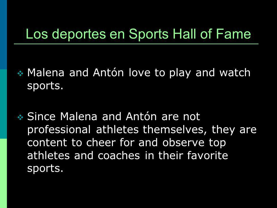Lets accompany Malena and Antón to the Philadelphia Sports Hall of Fame to learn the name of the sports equipment used and the activities in which some of Pennsylvanias top athletes and coaches participate.