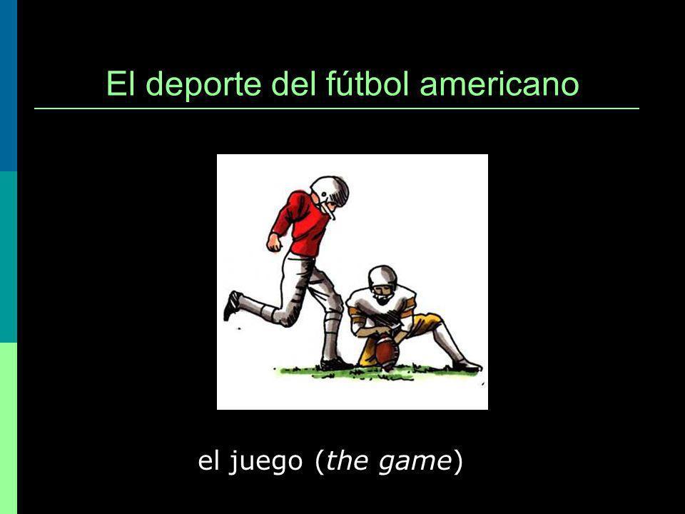 El deporte del fútbol americano el juego (the game)