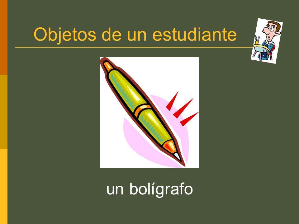 Objetos de un estudiante un bolígrafo