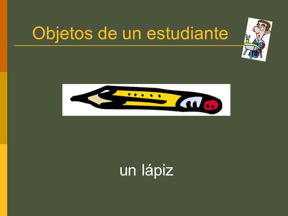 Objetos de un estudiante un lápiz