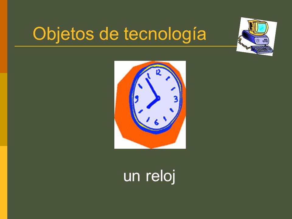 Objetos de tecnología un reloj