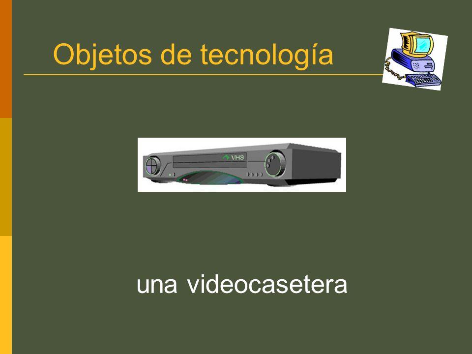 Objetos de tecnología una videocasetera