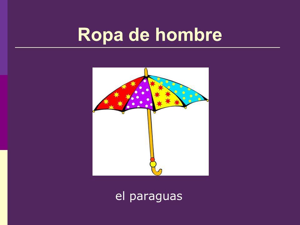 Ropa de hombre el paraguas