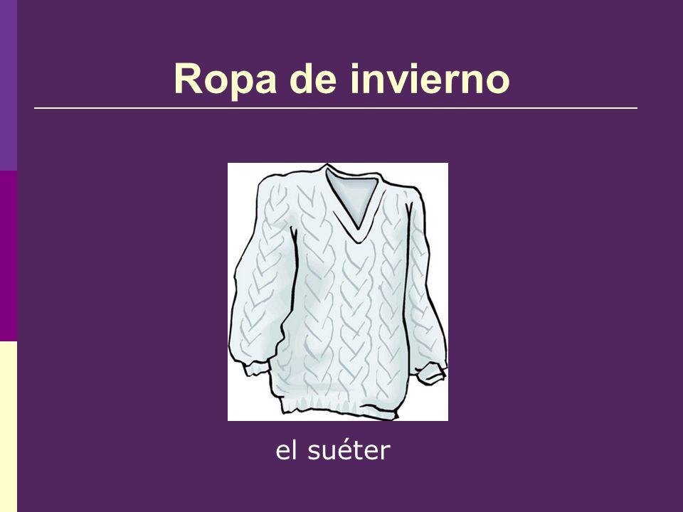 Ropa de invierno el suéter