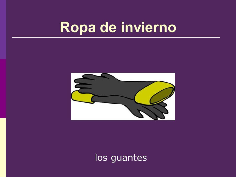 Ropa de invierno los guantes