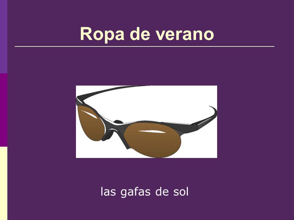 Ropa de verano las gafas de sol
