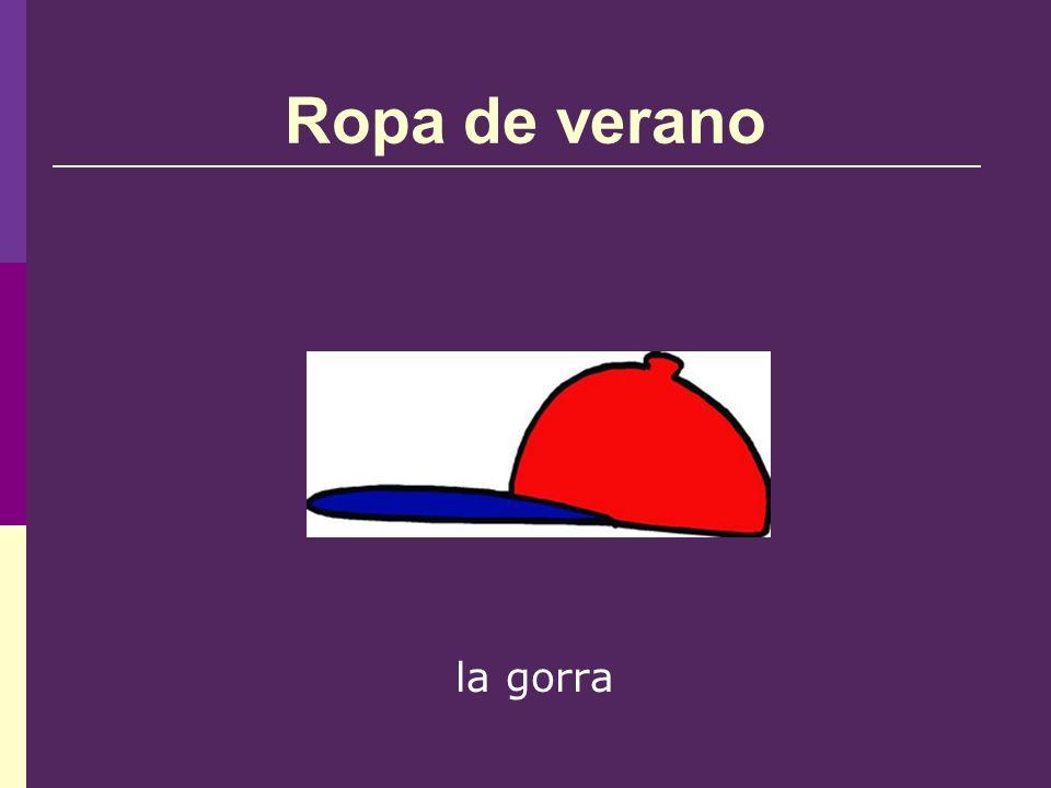 Ropa de verano la gorra