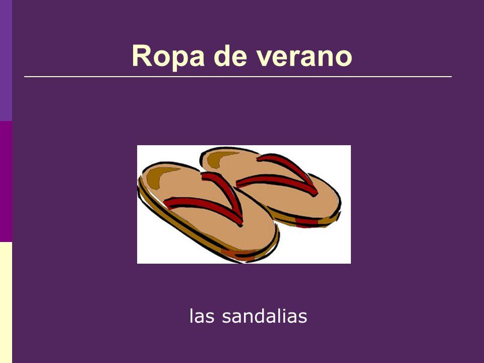 Ropa de verano las sandalias