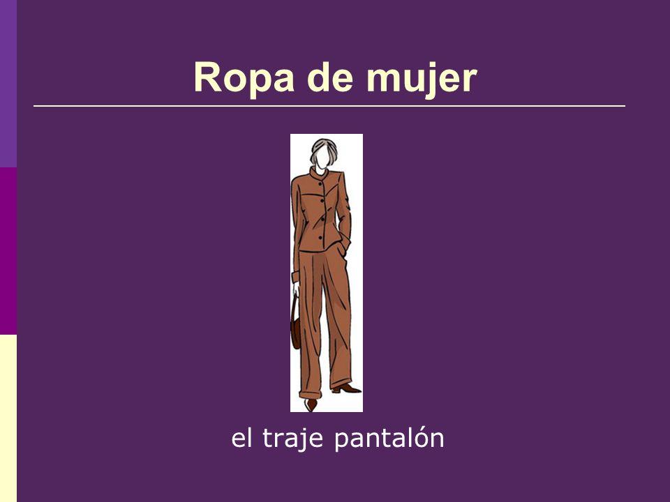 Ropa de mujer el traje pantalón