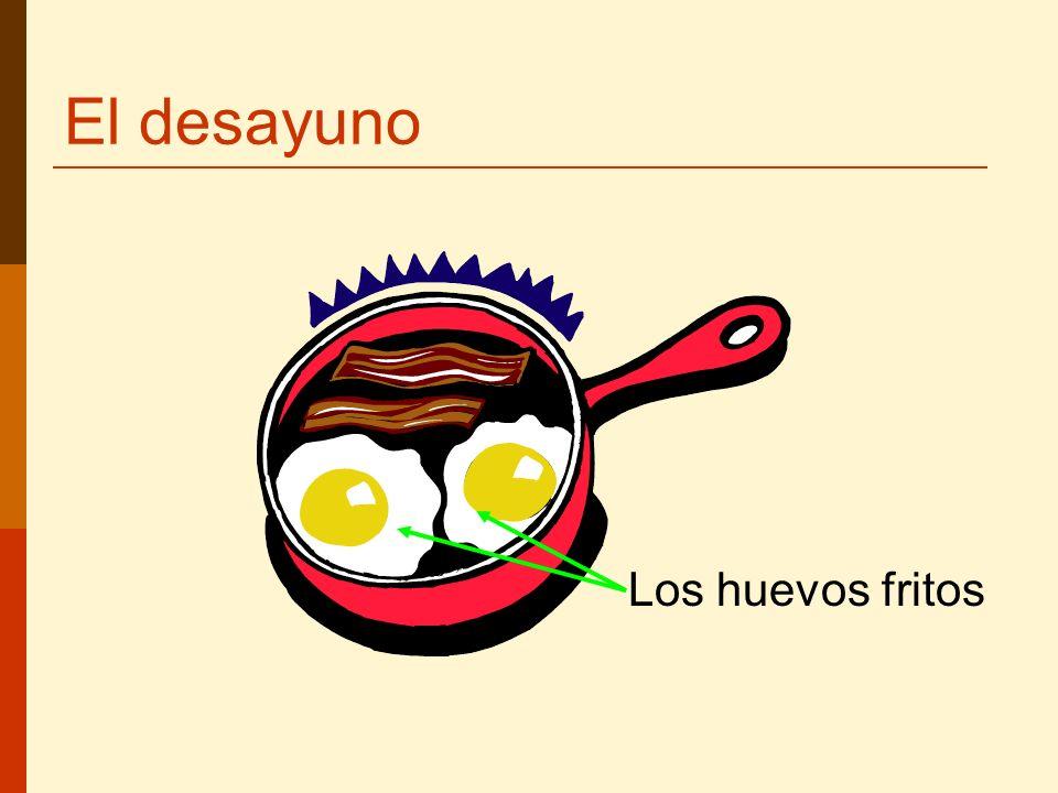 El desayuno Los huevos fritos