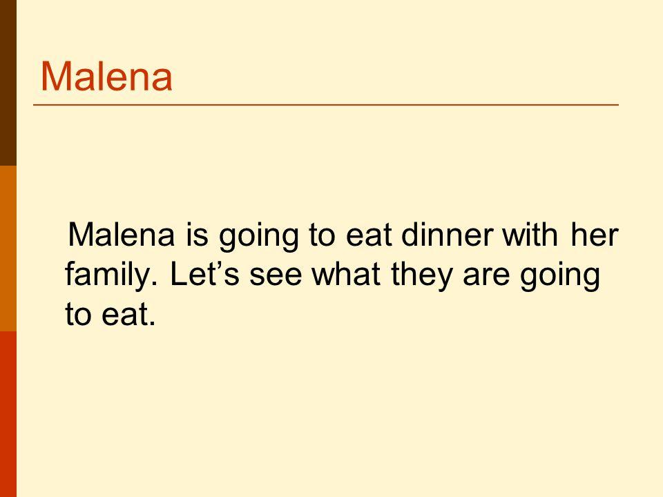 La comida / cena. El plato principal La lechuga