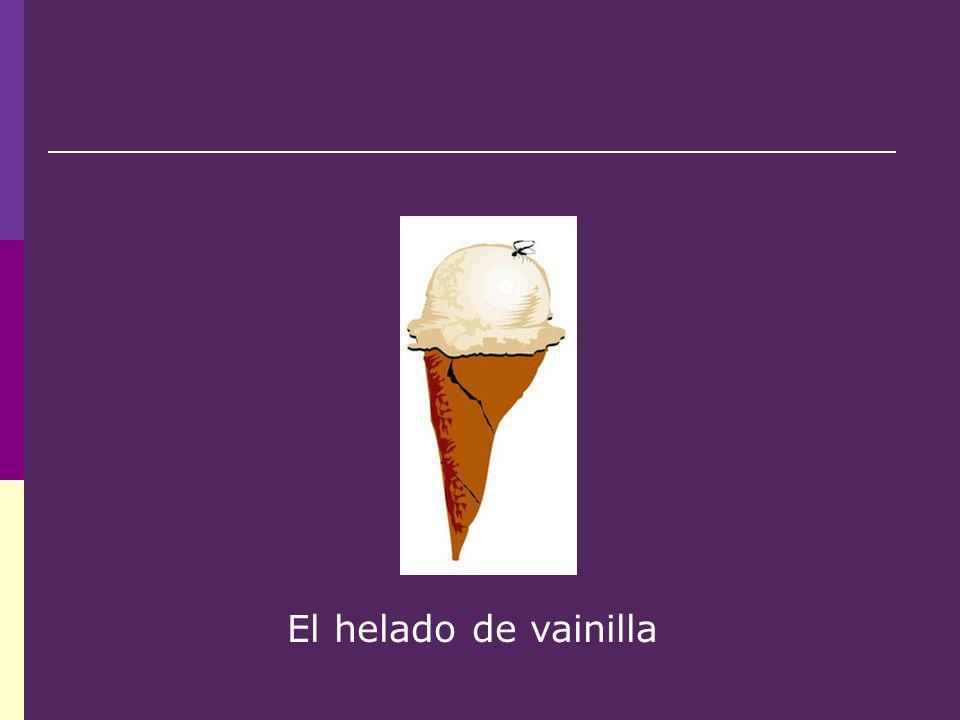 El helado de vainilla